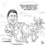 ¿David Monreal entrega bueyes para que tengan más ganado?